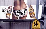Pepe Lopez tequila billboard in Los Angeles, CA