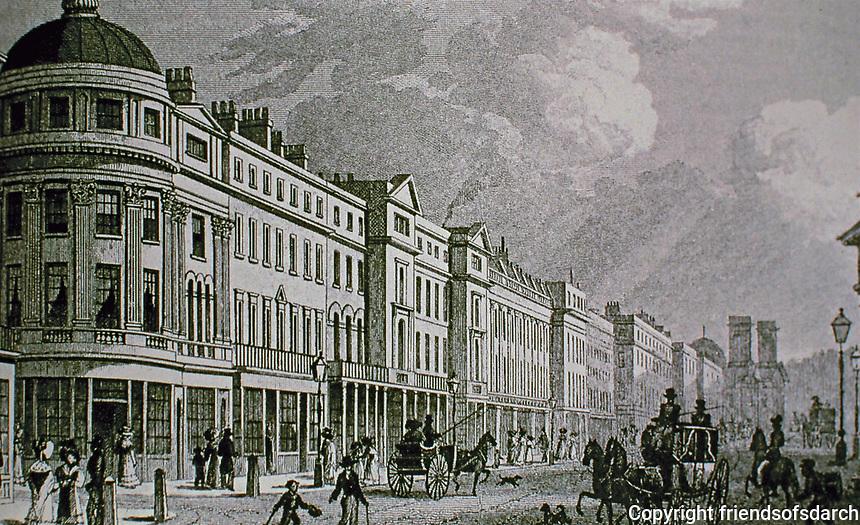 115-127 Regent Street, West Side from Quadrant. London. Historical photo.