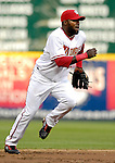 19 May 2007: Washington Nationals shortstop Cristian Guzman in action against the Baltimore Orioles at RFK Stadium in Washington, DC. The Orioles defeated the Nationals 3-2 in the second game of the 3-game interleague series...Mandatory Photo Credit: Ed Wolfstein Photo