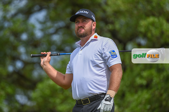 Graeme McDowell (NIR) watches his tee shot on 2 during day 4 of the Valero Texas Open, at the TPC San Antonio Oaks Course, San Antonio, Texas, USA. 4/7/2019.<br /> Picture: Golffile   Ken Murray<br /> <br /> <br /> All photo usage must carry mandatory copyright credit (© Golffile   Ken Murray)