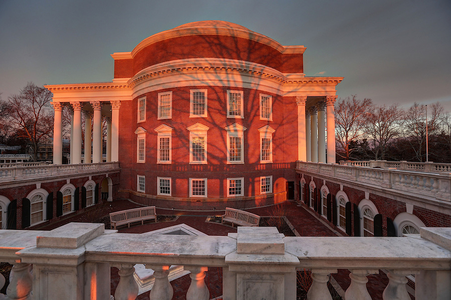 The Lawn and Rotunda at the University of Virginia in Charlottesville, Va. Photo/Andrew Shurtleff Photography, LLC