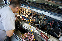 TROSA residents work at the on-site automotive shop.