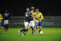 VOETBAL: LEEUWARDEN: Cambuur Stadion, 10-05-2012, SC Cambuur - VVV, Nacompetitie, Eindstand 0-0, Michael Timisela (#2), Bob Schepers (#27), ©foto Martin de Jong