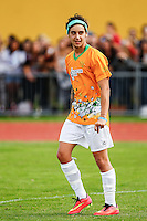 London, UK on Sunday 31st August, 2014. Luke Brooks of The Janoskians during the Soccer Six charity celebrity football tournament at Mile End Stadium, London.