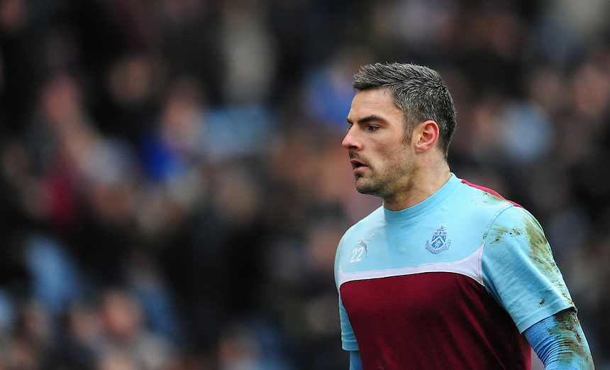 Burnley's Matthew Gilks during the pre-match warm-up <br /> <br /> Photographer Chris Vaughan/CameraSport<br /> <br /> Football - Barclays Premiership - Burnley v Manchester City - Saturday 14th March 2015 - Turf Moor - Burnley<br /> <br /> &copy; CameraSport - 43 Linden Ave. Countesthorpe. Leicester. England. LE8 5PG - Tel: +44 (0) 116 277 4147 - admin@camerasport.com - www.camerasport.com