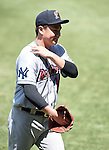 Masahiro Tanaka (RailRiders), MAY 27, 2015 - 3A : New York Yankees pitcher Masahiro Tanaka cares his shoulder during a minor league baseball game against the Pawtucket Red Sox at McCoy Stadium in Pawtucket, Rhode Island, United States. (Photo by AFLO)