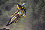 Pilot Clement Desalle in action during the MXGP World Championships at Pietramurata, on April 19, 2015.