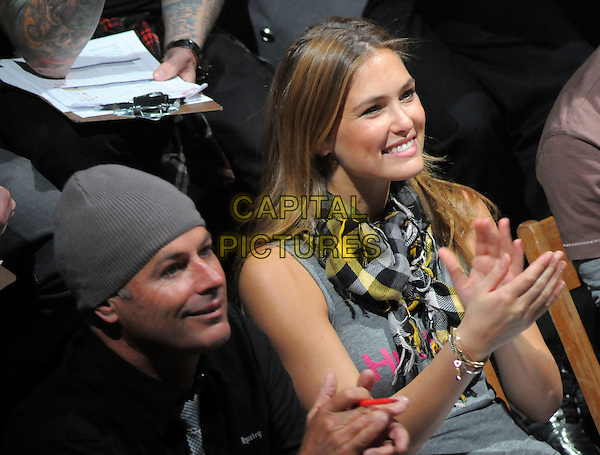 BOB HURLEY & BAR REFAELI (judges).The runway competition Walk the Walk hosted by Hurley held at House of Blues Anaheim in Anaheim, California, USA. February 24th, 2009                                                                                      half length grey gray top hat beanie hands clapping.CAP/DVS.©Debbie VanStory/Capital Pictures.