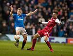 20.02.2020 Rangers v SC Braga: Scott Arfield and Joao Palhinha