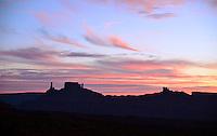 Sunset over the Professor Valley near Moab, Utah. October 2012.