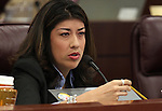 Nevada Assemblywoman Lucy Flores, D-Las Vegas, speaks in committee on Thursday, April 14, 2011, at the Legislature in Carson City, Nev. .Photo by Cathleen Allison