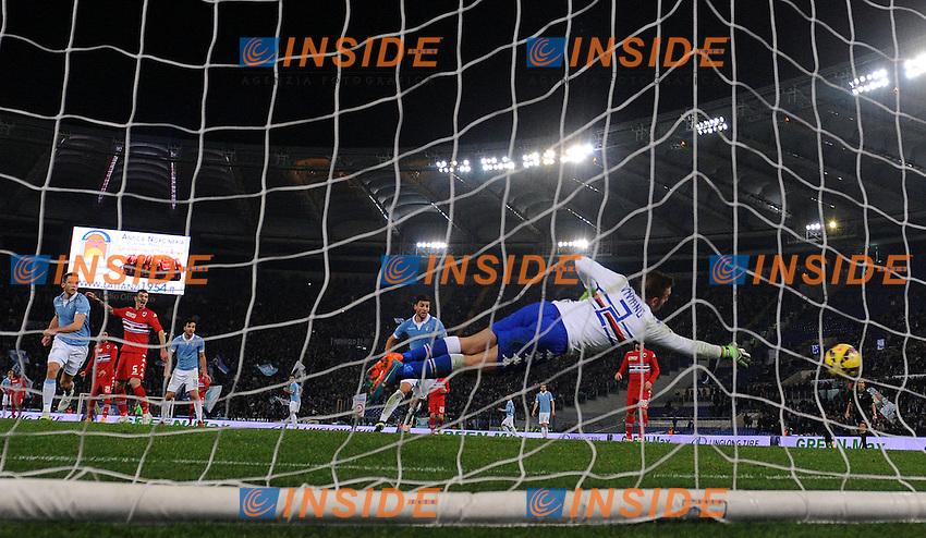Gol Felipe Anderson Lazio 2-0 Goal celebration <br /> Roma 05-01-2015 Stadio Olimpico, Football Champions Serie A Lazio - Sampdoria. Foto Andrea Staccioli / Insidefoto