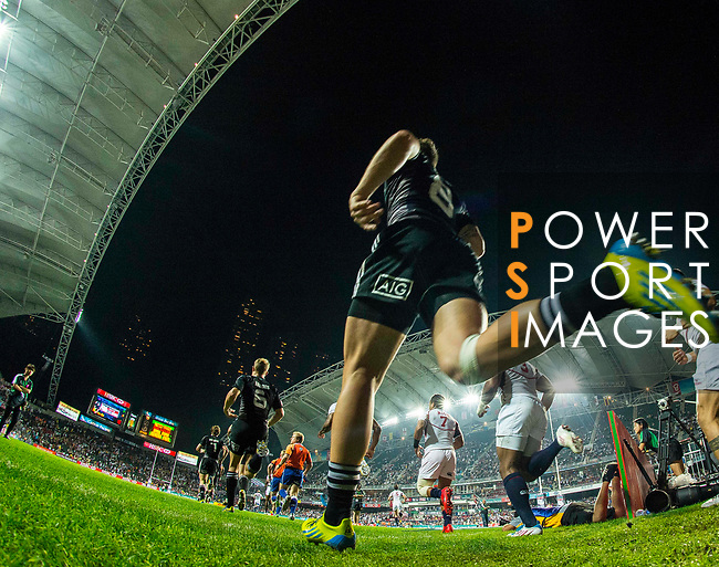 New Zealand play United States on Day 2 of the Cathay Pacific / HSBC Hong Kong Sevens 2013 on 23 March 2013 at Hong Kong Stadium, Hong Kong. Photo by Victor Fraile / The Power of Sport Images
