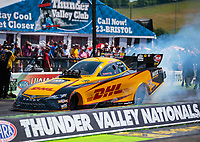Jun 17, 2018; Bristol, TN, USA; NHRA funny car driver J.R. Todd during the Thunder Valley Nationals at Bristol Dragway. Mandatory Credit: Mark J. Rebilas-USA TODAY Sports