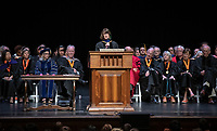 Professor Amy Lyford, recipient of The Janosik-Sterling Award for Service<br /> The class of 2023 are welcomed to Occidental College by trustees, faculty and staff in Thorne Hall on Aug. 27, 2019 during Oxy's 132th Convocation ceremony, a tradition that formally marks the start of the academic year and welcomes the new class.<br /> (Photo by Marc Campos, Occidental College Photographer)