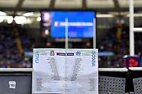 Match Program <br /> Roma 17/03/2018, Stadio Olimpico <br /> NatWest 6 Nations Championship <br /> Trofeo Sei Nazioni <br /> Italia - Scozia / Italy - Scotland <br /> Foto Andrea Staccioli / Insidefoto