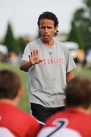 U-15/16 FC Dallas head coach Oscar Pareja. Andromeda v FC Dallas U15/16. 2009 US Soccer Development Academy Summer Showcase at Bryan Park Soccer Complex in Browns Summit, North Carolina, on June 27, 2009.
