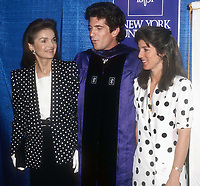 Jackie Onassis, John Kennedy Jr. Caroline Kennedy Schlossberg 1989<br /> Photo By John Barrett/PHOTOlink.net
