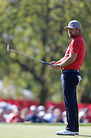 Ryan Moore (Team USA) on the 6th during the Friday afternoon Fourball at the Ryder Cup, Hazeltine national Golf Club, Chaska, Minnesota, USA.  30/09/2016<br /> Picture: Golffile | Fran Caffrey<br /> <br /> <br /> All photo usage must carry mandatory copyright credit (&copy; Golffile | Fran Caffrey)
