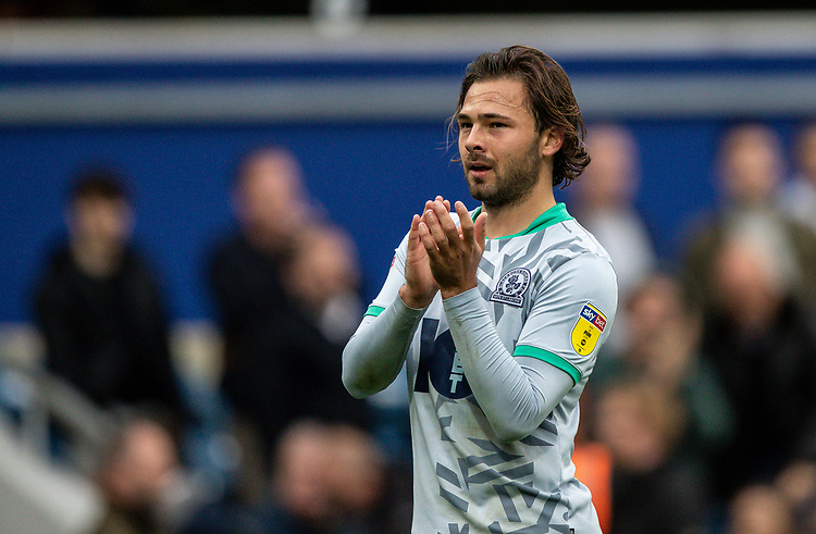 Blackburn Rovers' Bradley Dack applauds his side's travelling supporters at the end of the match <br /> <br /> Photographer Andrew Kearns/CameraSport<br /> <br /> The EFL Sky Bet Championship - Queens Park Rangers v Blackburn Rovers - Saturday 5th October 2019 - Loftus Road - London<br /> <br /> World Copyright © 2019 CameraSport. All rights reserved. 43 Linden Ave. Countesthorpe. Leicester. England. LE8 5PG - Tel: +44 (0) 116 277 4147 - admin@camerasport.com - www.camerasport.com