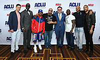 07 June 2019 - Hollywood, California - Joshua Jackson, Yusef Salaam, Korey Wise, Raymond Santana, Antron McCray, Kevin Richardson, Kendrick Sampson. ACLU 25th Annual Luncheon held at J.W. Marriott at LA Live. Photo Credit: Birdie Thompson/AdMedia