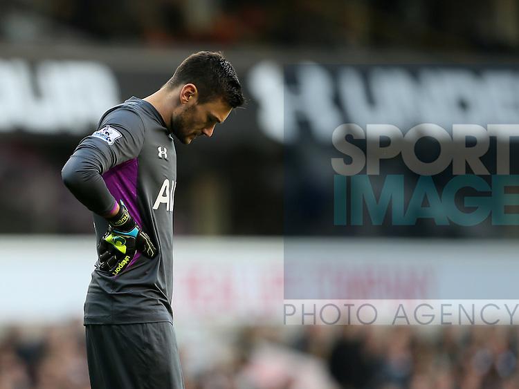 Tottenham's Hugo Lloris looks on dejected<br /> <br /> - Barclays Premier League - Tottenham Hotspur vs Stoke City- White Hart Lane - London - England - 9th November 2014  - Picture David Klein/Sportimage