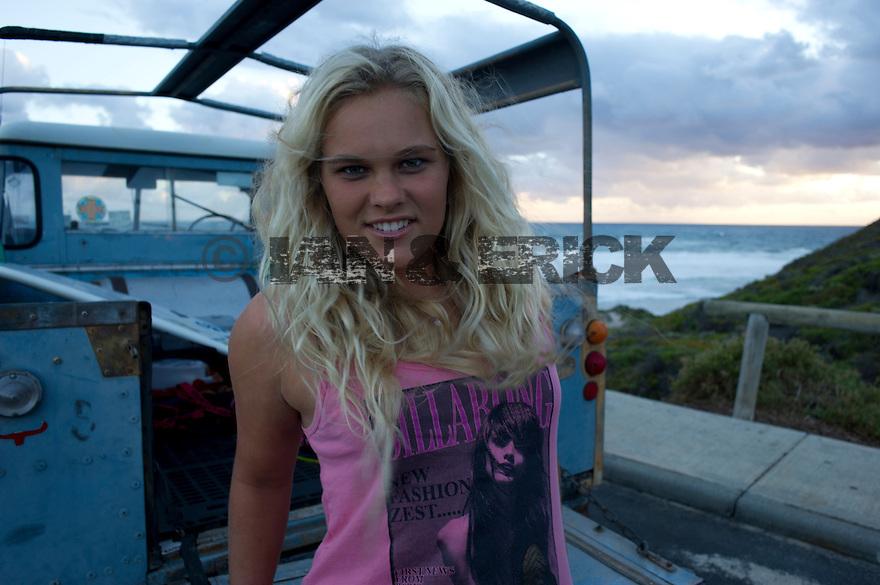 Felicity Palmeteer at Gas Bay near Margaret River in Western Australia.