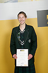 Girls Distance Running winner Rachael Kingstone. ASB College Sport Young Sportperson of the Year Awards 2007 held at Eden Park on November 15th, 2007.