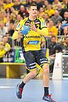 Rhein Neckar Loewe Andy Schmid (Nr.2) nimmt Anlauf zum Wurf beim Spiel im DHB Pokal, Rhein Neckar Loewen - SC DHfK Leipzig.<br /> <br /> Foto &copy; PIX-Sportfotos *** Foto ist honorarpflichtig! *** Auf Anfrage in hoeherer Qualitaet/Aufloesung. Belegexemplar erbeten. Veroeffentlichung ausschliesslich fuer journalistisch-publizistische Zwecke. For editorial use only.