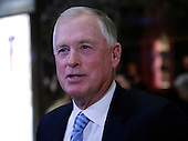 Former United States Vice President Dan Quayle speaks to reporters in the lobby of Trump Tower on November 29, 2016 in New York City.     <br /> Credit: John Angelillo / Pool via CNP
