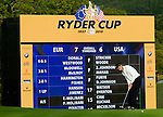 RYDER CUP 2010, CELTIC MANOR, WALES..Sunday fourballs..EDOARDO MOLINARI..3-10-2010 PIC BY IAN MCILGORM