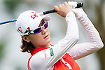 CHON BURI, THAILAND - FEBRUARY 17:  Na Yeon Choi of South Korea tees off on the 11th hole during day two of the LPGA Thailand at Siam Country Club on February 17, 2012 in Chon Buri, Thailand.  Photo by Victor Fraile / The Power of Sport Images