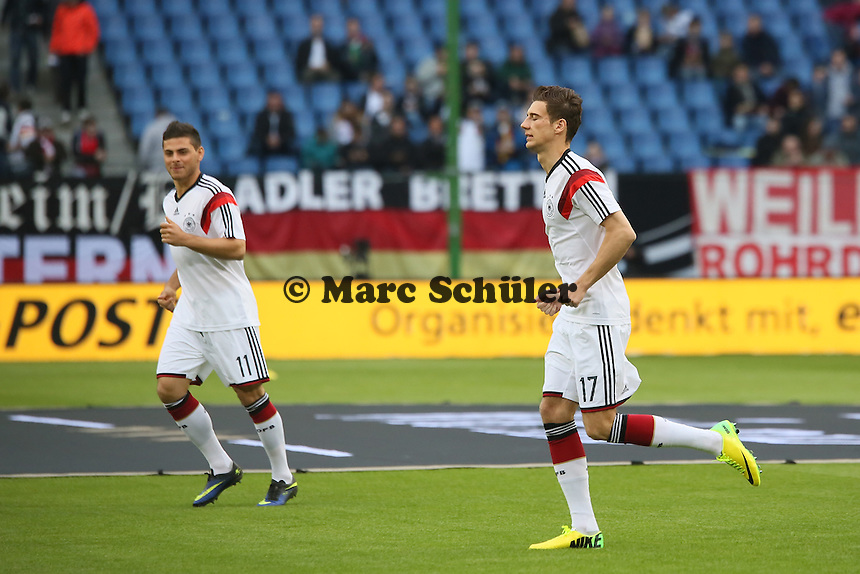 Kevin Volland und Leon Goretzka (D) - Deutschland vs. Polen, WM-Vorbereitung Testspiel, Imtech Arena Hamburg