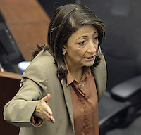 Gilma Jiménez, política colombiana./ Colombian politician. Photo: VizzorImage/CONT