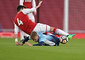 16/04/2018 Arsenal v Blackpool FAYC Semi 2L<br /> <br /> Rowan Roche tackles Robbie Burton