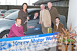 6974- 6980.FORD: Packie Bonner of the FAI Ireland who launched the new Ford Mondeo Car on Saturday at the Denny's Kerry District League Fundraiser night at Kingdom Greyhound Stadium, Tralee. L-r: Stephen Benner (Kerry Motor Works), Carol Benner, Packie Bonner, John O'Regan (Secretary Kerry District League), Frank Hayes (Kerry Group) and Ciaran Griffin (Kerry Motor Works).