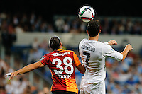 Real Madrid´s Portuguese forward Cristiano Ronaldo and Galatasaray Tarik