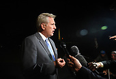 United States House Majority Leader Kevin McCarthy (Republican of California) speaks to the press on the South Lawn after US  President Donald J. Trump and first lady Melania Trump returned to the White House from Las Vegas, Nevada October 4, 2017. <br /> Credit: Olivier Douliery / Pool via CNP