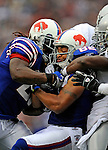 21 September 2008: Buffalo Bills' wide receiver Josh Reed gains 7 yards and a first down in the 4th quarter against the Oakland Raiders at Ralph Wilson Stadium in Orchard Park, NY. The Bills rallied for 10 unanswered points in the 4th quarter to defeat the Raiders 24-23 marking their first 3-0 start of the season since 1992...Mandatory Photo Credit: Ed Wolfstein Photo