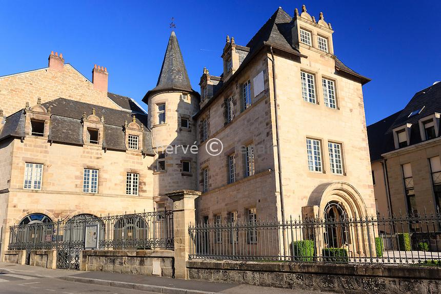 France, Corrèze (19), Brive-la-Gaillarde, la maison Cavaignac // France, Correze, Brive la Gaillarde, Cavaignac House