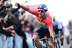 Dutch National Champion Dylan Groenewegen (NED) Lotto NL-Jumbo wins Stage 1 of the Tour de Yorkshire 2017 running 174km from Bridlington to Scarborough, England. 28th April 2017. <br /> Picture: ASO/A.Broadway | Cyclefile<br /> <br /> <br /> All photos usage must carry mandatory copyright credit (&copy; Cyclefile | ASO/A.Broadway)