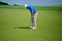 Kevin Chappell (USA) watches his putt on 16 during round 3 of the World Golf Championships, Dell Technologies Match Play, Austin Country Club, Austin, Texas, USA. 3/24/2017.<br /> Picture: Golffile | Ken Murray<br /> <br /> <br /> All photo usage must carry mandatory copyright credit (&copy; Golffile | Ken Murray)