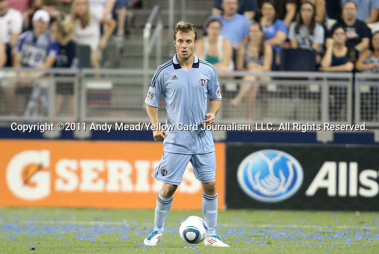 09 June 2011: Kansas City's Michael Harrington. Sporting Kansas City played the Chicago Fire to a 0-0 tie in the inaugural game at LIVESTRONG Sporting Park in Kansas City, Kansas in a 2011 regular season Major League Soccer game.