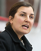 Maura Crowell (Harvard - Interim Head Coach) - The Harvard University Crimson defeated the visiting Boston University Terriers 3-1 on Friday, November 22, 2013, at Bright-Landry Hockey Center in Cambridge, Massachusetts.