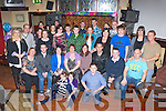 Brenda Kerins, Castleisland seated centre who celebrated her 21st birthday with her family and friends in the Kingdom House Castleisland on Saturday night..