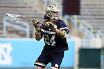 23 April 2016: Notre Dame's Mikey Wynne. The University of North Carolina Tar Heels hosted the University of Notre Dame Fighting Irish at Kenan Stadium in Chapel Hill, North Carolina in a 2016 NCAA Division I Men's Lacrosse match. UNC won the game 17-15.