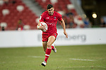 Justin Douglas of Canada runs with the ball during the match Canada vs England, Day 2 of the HSBC Singapore Rugby Sevens as part of the World Rugby HSBC World Rugby Sevens Series 2016-17 at the National Stadium on 16 April 2017 in Singapore. Photo by Victor Fraile / Power Sport Images