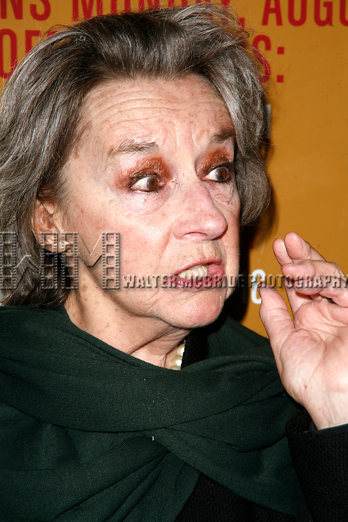 Zoe Caldwell arriving for the Opening Night Performance for THE SEAGULL at the Walter Kerr Theatre in New York City.<br />