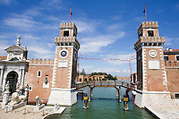 L'entrata dell'Arsenale a Venezia.<br /> The entrance of the Arsenale in Venice.<br /> UPDATE IMAGES PRESS/Riccardo De Luca