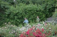 Children, playing in a summer garden, New Jersey